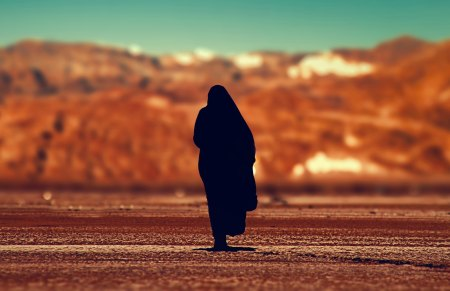 woman in desert